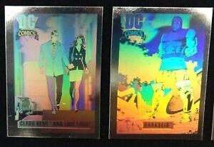 1991 1993 DC Comic Cards Impel Hologram Chase Set DCH1-DCH16  + 1991 Base Set
