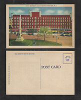 1940s HOTEL WOODRUFF PUBLIC SQUARE WATERTOWN NY POSTCARD