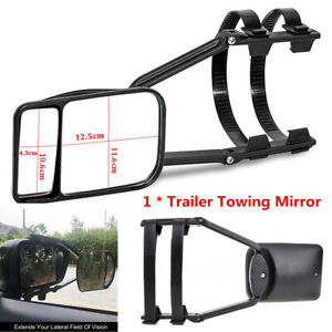Adjustable Clip-on Trailer Towing Side Mirror Extender Extension For Car Caravan