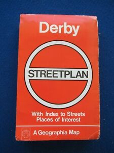 Geographia Official Street Map & Street Index - Derby  c1978