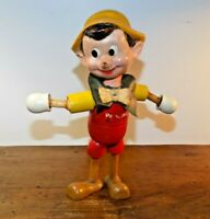 Antique WALT DISNEY'S PINOCCHIO IDEAL WOOD JOINTED DOLL 1939