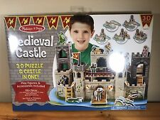 Melissa & Doug Medieval Castle 3-D Puzzle New 100+ Pieces Knights Dragons