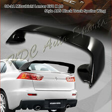 For 2008-2015 Mitsubishi Lancer EVO 10 ABS Painted Black Rear Trunk Spoiler Wing