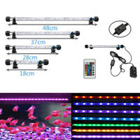 18-48CM RGB LED Aquarium Fish Tank Light Bar Submersible Plant Grow Lamp IP68