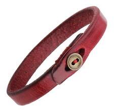 A38 Leder Armband Herren Damen Band Riemen Knopf Biker Leather Bracelet Strap
