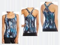 Lucy Women's Fitness Fix Tank Top Multi Woods Print ~ XS S M L ~ New With Tags!