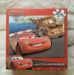 Disney Cars Lenticular Puzzle 24 Peices NIP Sealed. 12 X 9 inches.