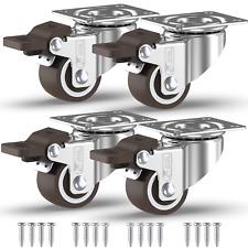4 x 25mm 50mm Castor Wheels Stem Threaded Bolt Swivel Casters Heavy Duty