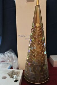 "6680 Princess House Holiday Golden Reflections Mosaic Tree (Large) 19""H RET NIB"