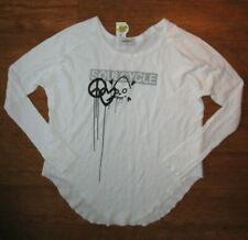 NWT SOULCYCLE SIFF SYMBOLS ROUND HEM THERMAL LS WHITE YOGA RUNNING DANCE size S