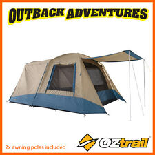 OZtrail FAMILY 6 PERSON DOME TENT – 2 ROOM – SPACIOUS CAMPING TENT - NEW MODEL