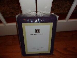 NIP Concierge Collection Purple 100% Cotton King Blanket