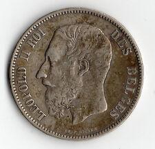 ECU DE 5 FRANCS EN ARGENT DE BELGIQUE DE 1873 @ LEOPOLD II @ SILVER COINS N°3