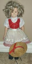 Danbury Mint Shirley Temple Doll Red /white dress outfit comes with hat
