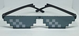 Thug Life Sunglasses 8 bit 6 Pixel block Novelty Gamer Just Deal With It Glasses