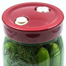 Airlock Lid For Fermenting In Jars - The Secret to Mold Free Ferments - 4 Wide -