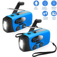 Emergency Solar Light Hand Crank Dynamo AM/FM/WB Radio Flashlight USB Power Bank