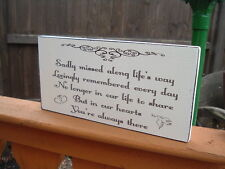 shabby vintage chic sadly missed along the way sympathy loved  ones sign plaque