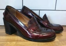Paul Smith red maroon block heel court shoes size 38 UK 5 loafers brouges