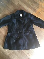 SIZE 3/4 YEARS NEXT BLACK BRUSHED VELVET 3/4 LENGTH COAT WINTER/XMAS/DISNEY