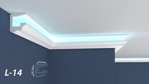 XPS Polystyrene LED Indirect Lighting Up lighter Lightweight Coving Cornice L-14