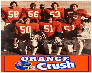 NFL Denver Broncos Linebackers ORANGE CRUSH Color  8 X 10 Photo Picture