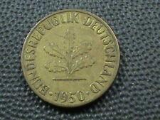 WEST GERMANY  5 Pfennig  1950  -  G  ,  $ 2.99  Maximum  shipping  in  USA