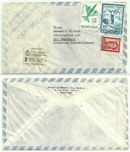 BF 018 - Reco-Luftpost-Brief aus Argentinien nach Deutschland 1970