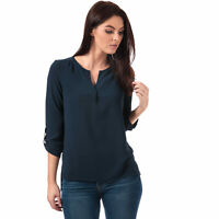 Womens Vero Moda Sasha 3 Quarter Sleeve Top In Navy Blazer