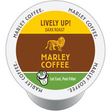 Marley Coffee K-Cup Organic for Keurig Brewers - Espresso Roast Lively Up, 96 Ct
