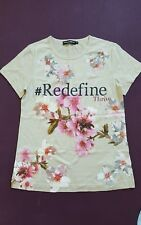 Dolce & Gabbana # Redefine Thrive Floral Print T-Shirt Size 38  100% Authentic M