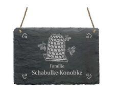 « IMKER » Schiefertafel Türschild mit MOTIV + IHR TEXT - Honig Biene Imkerei