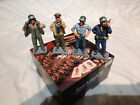 King and Country US naval crew x4. 1:30 scale.