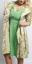 Blutsgeschwister Green Printed Hello Happiness Dress XL NEW