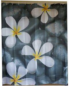 5 seeds plumeria alba shower curtain new free shipping