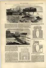 1874 Roulement pont entre St Servan et St Malo Cowan appareils de chauffage