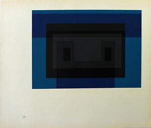 JOSEF ALBERS - Variation eines Themas II. Unsignierter Farbsiebdruck (1968).