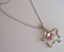 Star Dangling Crystal Fashion Necklace (Fj45) New White Gold Plating Twisted