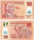 Nigeria 10 Naira 2016 P-39 UNC Uncirculated Polymer Banknote