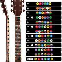 New Electric and Acoustic Guitar Chord Chart Note Sticker For Beginner Practice