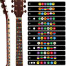 5pcs New Electric Acoustic Guitar Chord Chart Note Sticker For Beginner Practice