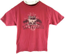 The Duck Co T shirt Coton Homme Taille M Rouge imprime San Francisco Envoi suivi