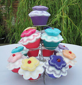 Beautiful Cupcake Embroidered Pin Cushion - Hand Crafted