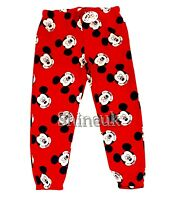 Brand New Team DISNEY Mickey MOUSE ladies Super soft Joggers Red Bottoms Primark