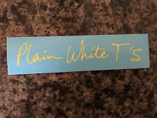 Plain White T's sticker promo 2006 collector's item