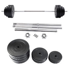 Goplus 132 LB Barbell Dumbbell Weight Set Gym Lifting Exercise Curl Bar Workout