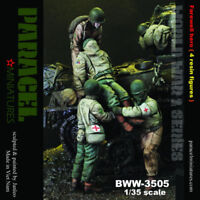 1:35 WWII Farewell Hero Soldiers High Quality Resin Kit (4 Figures)