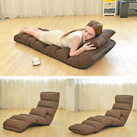 205/175cm Removable Foldable Lazy Sofa Chair Sofa Couch Bed Lounge Chair Pillow