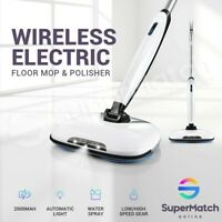 Electric Floor Polisher Cordless Tile Wax Cleaner Cleaning Mop Sweeper Machine