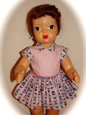 "Vintage 16"" Terri Lee Doll In Tagged Pink Barrel Dress"